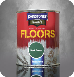 Johnstone's Speciality Paint for Garage Floors Dark Green Paint - 750ml