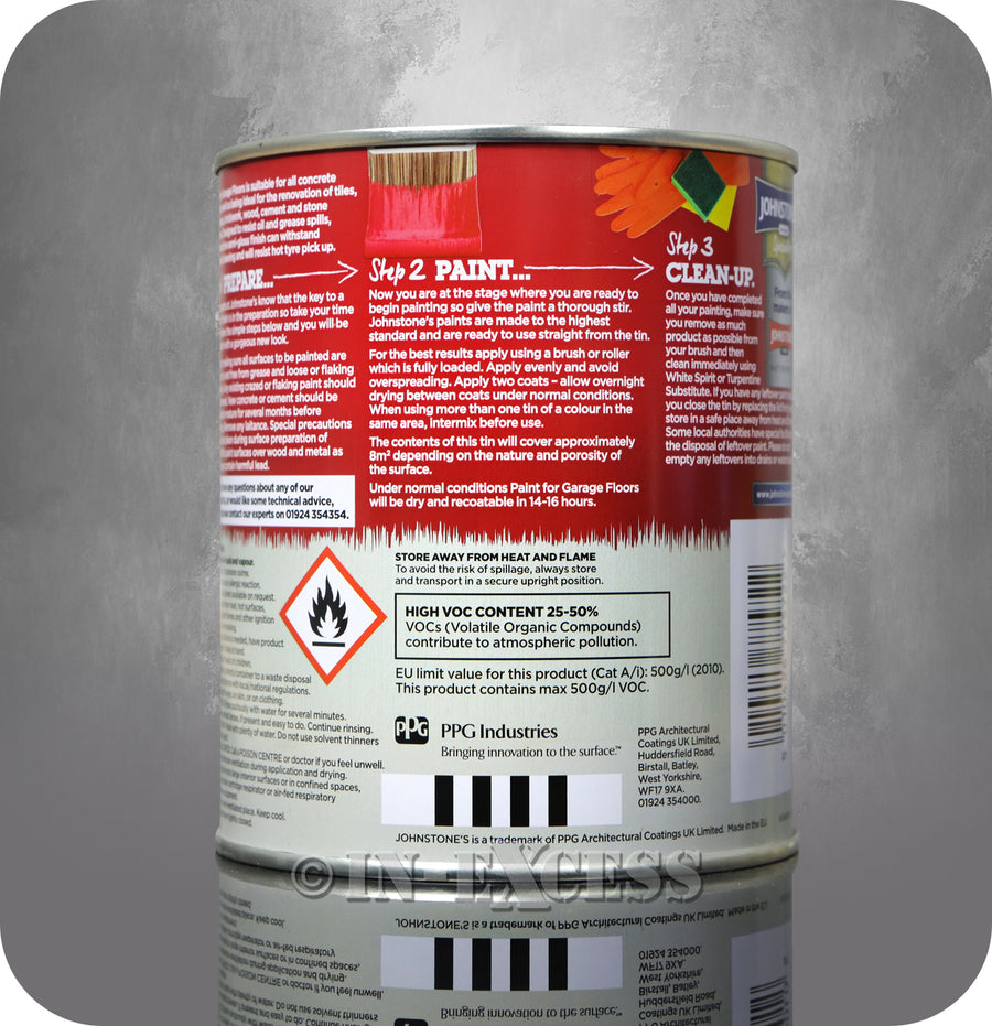 Johnstone's Speciality Paint for Garage Floors Tile Red Paint - 750ml