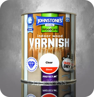 Johnstone's Woodcare Indoor Clear Gloss Varnish - 750ml