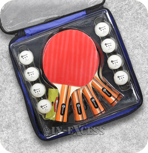 JP WinLook Table Tennis Paddle Bat Set With 8 Ping Pong Balls - 4 Paddle Set