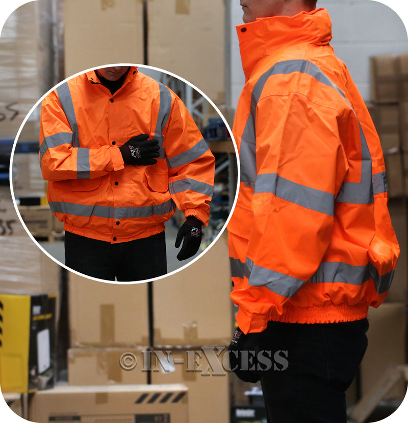 JSP Class 2 & 3 High Visibility Reflective Waterproof Coat - Orange