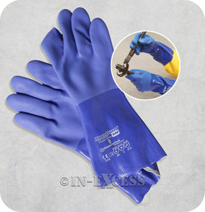 Kimberly-Clark Kleenguard G80 PVC Chemical Resistant Industrial Gloves - Size 9 (Large)