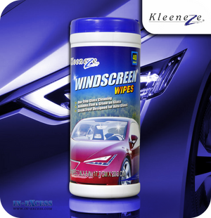 Kleeneze Windscreen Wipes - Tub of 40 Wipes