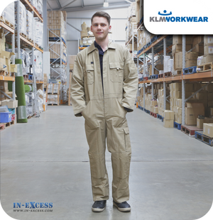 KLM Clothing Cotton Boiler Suit Overalls - Khaki