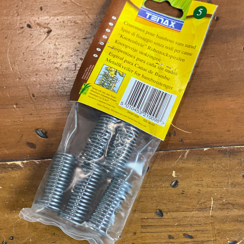 Bamboo Cane Coils - Tenax No Knot Coils, Pack of 5
