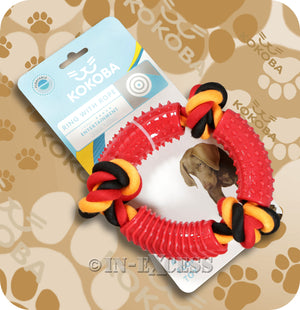 Kokoba Dog Ring With Rope Agility Floating Toy