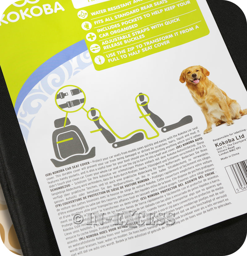 Kokoba Car Seat Dog Protection Pet Cover
