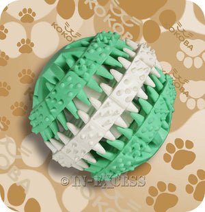 Kokoba Zig Zag Dental Dog Toy For Teething Dogs Ball
