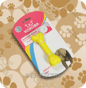 Kokoba Dog Rubber Bone Agility Chewing Teething Toy large bone small bone
