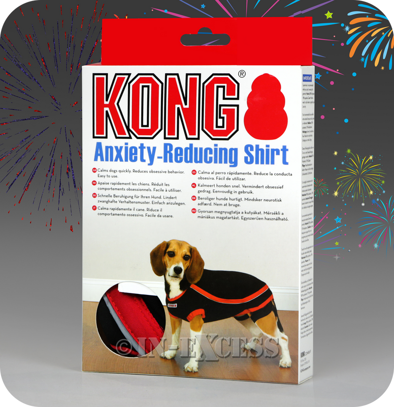 Kong Anxiety-Reducing Thunder Dog Shirt For Anxious Dogs - Black & Red