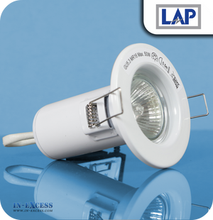 LAP 12V Fire Rated Down Light Kit White - Pack of 10 (38707)