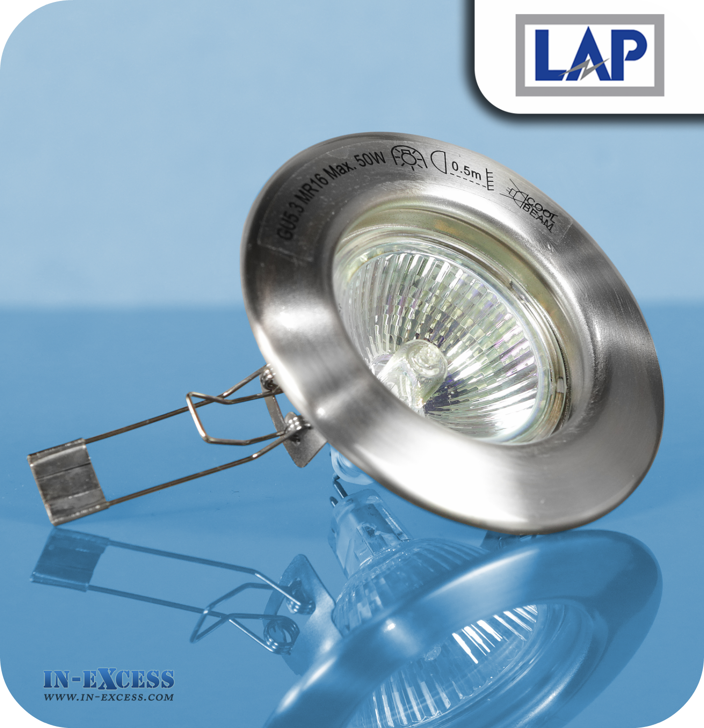 LAP 12V Recessed Downlight Kit Brushed Chrome - Pack of 10 - In ...