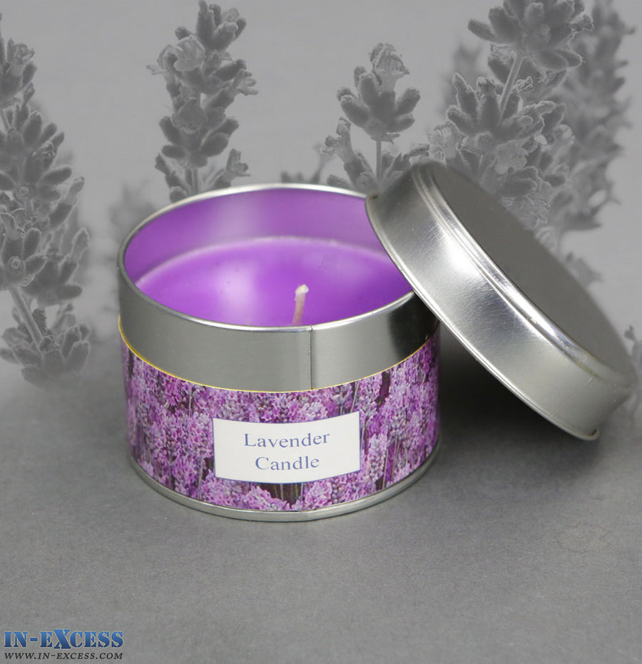 Nature's Fragrances English Lavender Tin Candle