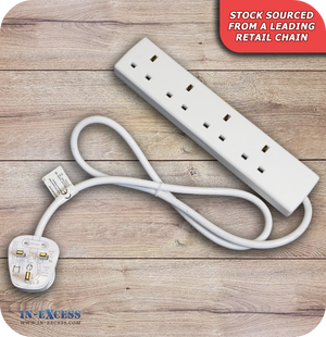 Wired 4 Socket Extension Lead - 1 Metre