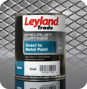 Leyland Trade Specialist Coatings Direct to Metal Paint 750ml - Gold