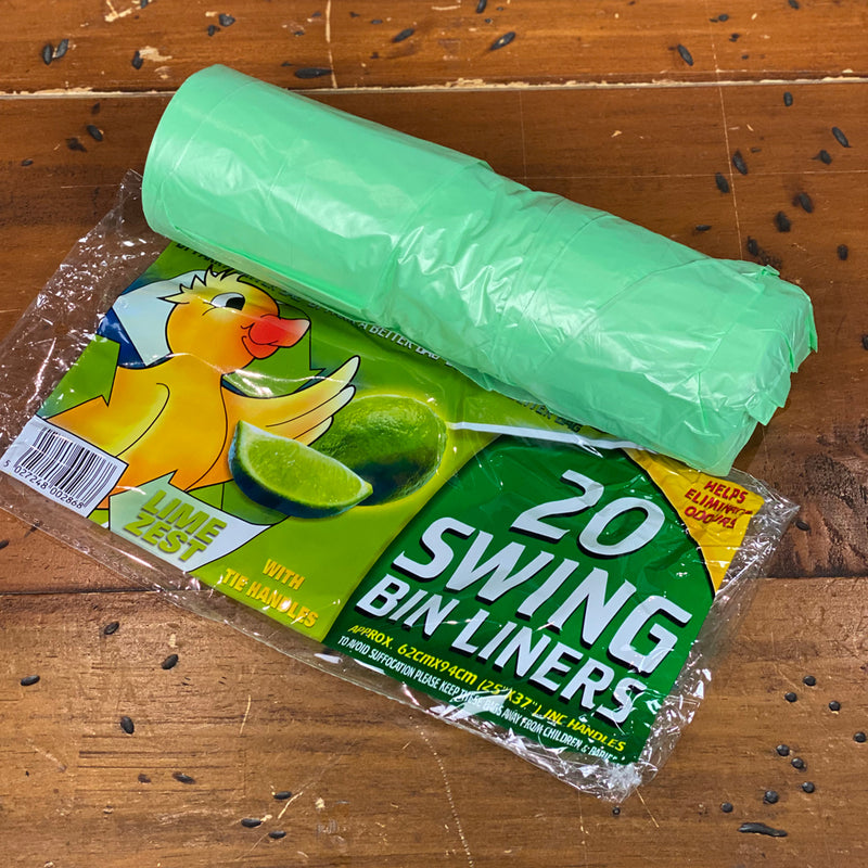 Scented Swing Pedal Bin Liners - Roll of 20 Liners - Lime zest scent