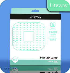 Liteway LED Non-Dimmable 2D Lamp 4 Pin Bulb - 14W~28W