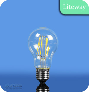 Liteway LED Filament Dimmable GLS Bulb E27 - 6W~40W