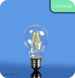 Liteway LED Filament Non-Dimmable GLS Bulb E27 - 6W~40W