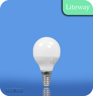 Liteway LED Non-Dimmable Frosted Golf Ball Bulb E14 - 6W~40W