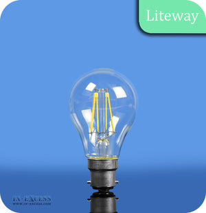 Liteway LED Filament Dimmable GLS Bulb B22 - 6W~40W