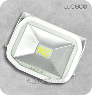 Luceco Guardian Slimline LED Tilting White Floodlight 5000k Neutral White - 38W>500W
