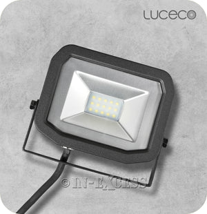 Luceco Guardian Slimline LED Tilting Black Floodlight 5000k Neutral White - 10W>100W