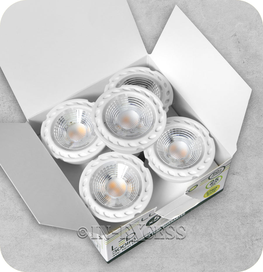 Luceco LED Non-Dimmable GU10 Bulb - 4W~40W (Pack of 5)