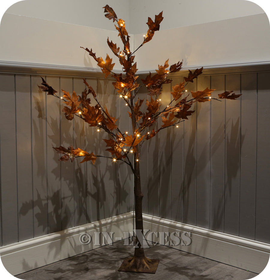 Lumineo Decorative LED Deco Autumn Tree Warm White Lights - 4 Foot