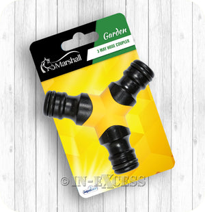 Marshall Aqualean Garden Watering 3-Way Male Hose Coupler - 3/4""