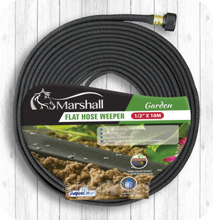 "Marshall Aqualean Garden Watering Flat Irrigation Hose Weeper - 1/2"" x 10m"