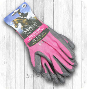 Marshall Second Skin Multi Purpose Stable Gardening Gloves - Pink