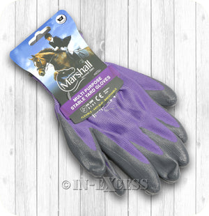 Marshall Second Skin Multi Purpose Stable Gardening Gloves - Purple