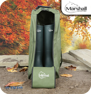 Marshall Unisex Lined Wellington Walking Boot Carrying Bag - Olive Green