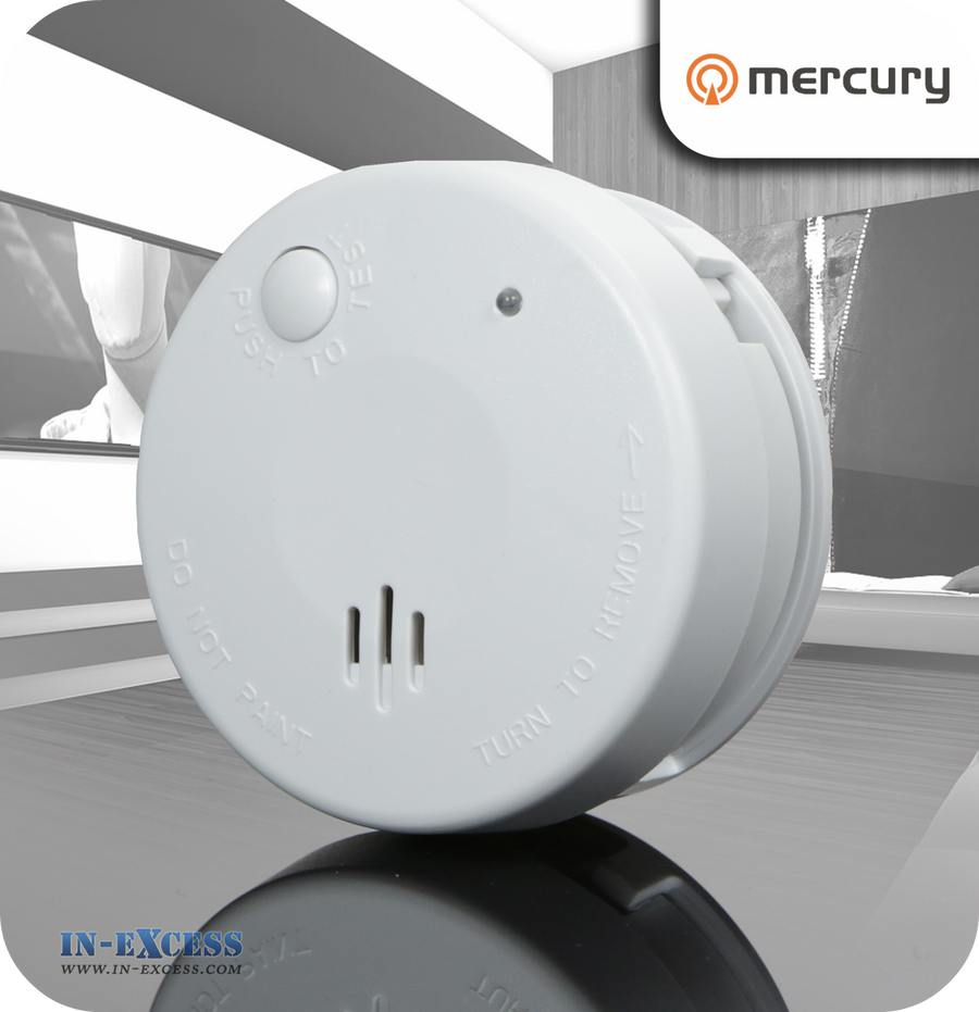 Mercury Mini Smoke Alarm Detector