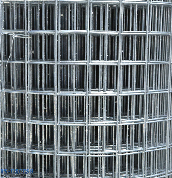 "16ga Cage & Aviary Galvanised Wire Fence Welded Mesh 1"" x 1"" 0.9 x 6m Roll"