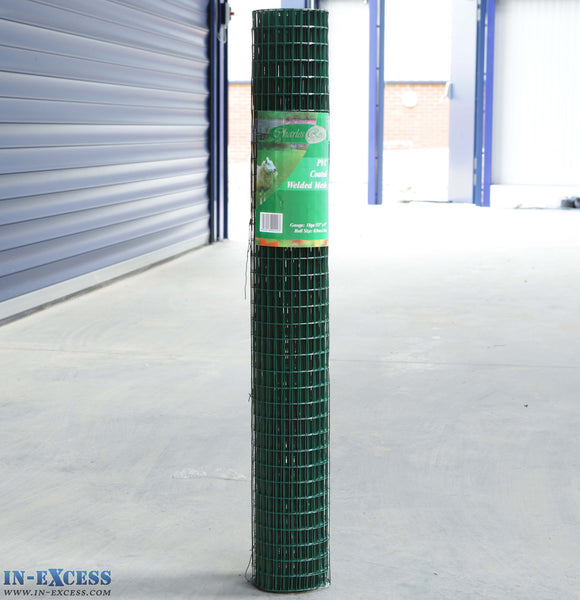 "PVC 18ga Coated Wire Fence Welded Mesh Green 1/2"" x 1"" 0.9 x 6m"