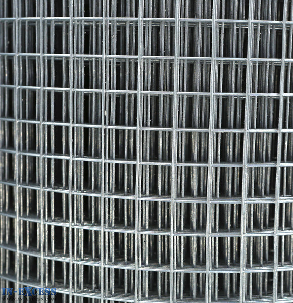 "19ga Cage & Aviary Galvanised Wire Fence Welded Mesh 1/2"" x 1/2"" 0.9 x 20m Roll"