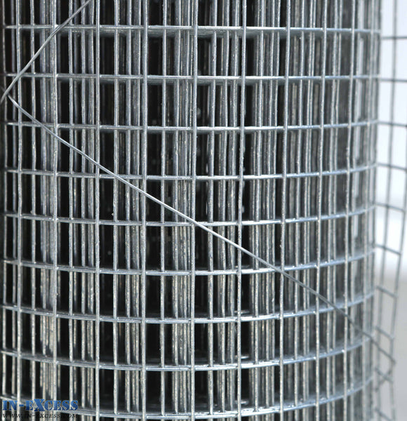 "19ga Cage & Aviary Galvanised Wire Fence Welded Mesh 1/2"" x 1/2"" 0.9 x 6m Roll"