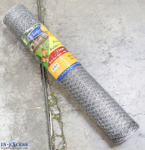 22ga Hex Poultry Netting Galvanised Wire Fence Welded Mesh 13mm x 13mm 0.6 x 10m Roll
