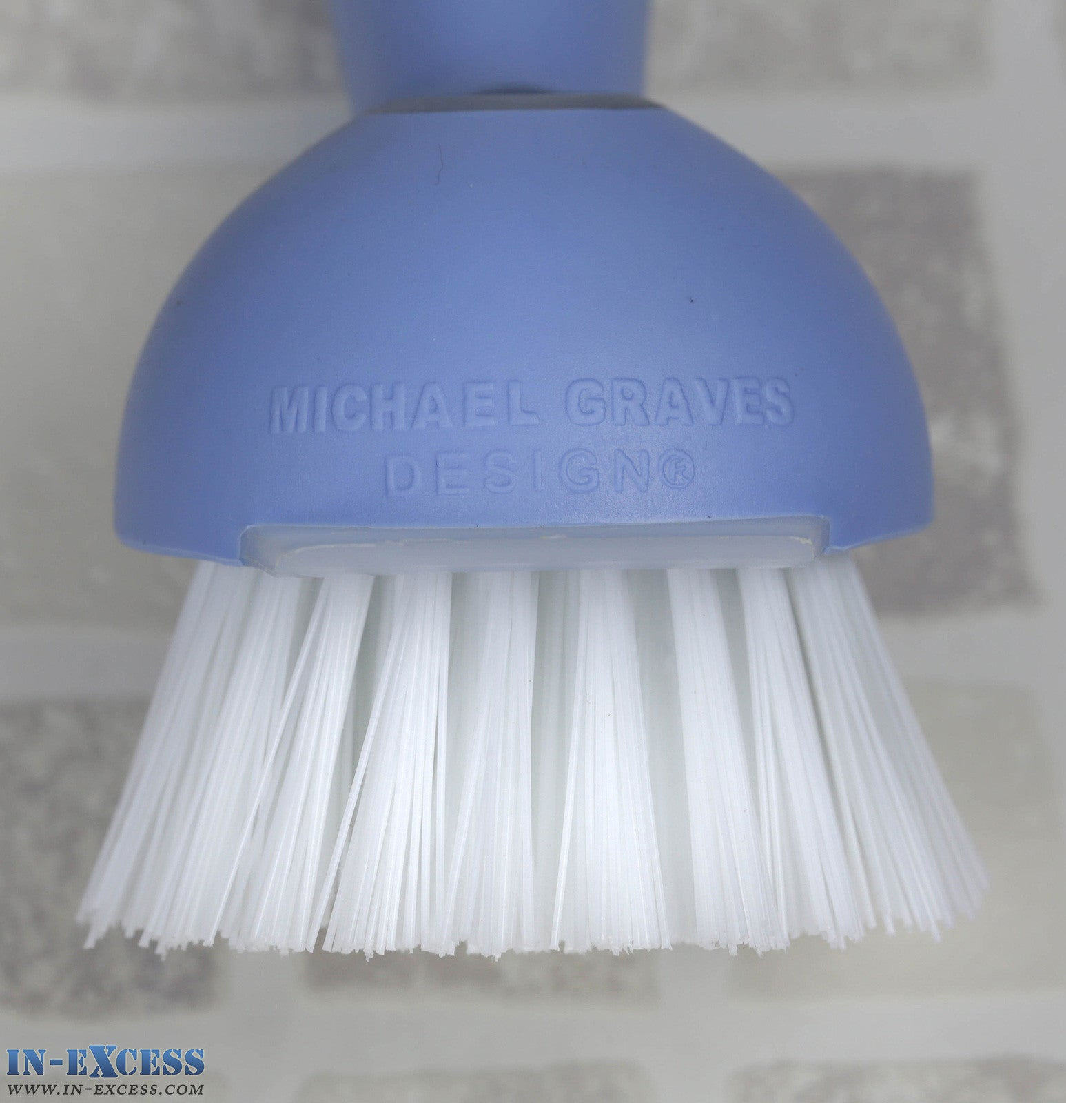 Michael Graves Design Mini Kitchen Dish Scrubber Brush with Stand ...