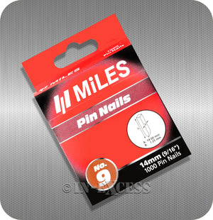 "Miles Staple Pin Nail Gun Refill Staples No.9 - 14mm (9/16"")"