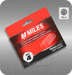 "Miles Staple Gun Refill Staples No.4 - 10mm (3/8"")"