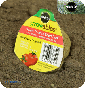 Miracle-Gro Gro-ables Biodegrable Seed Pods - All In One Seed, Fertiliser and Compost