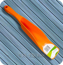 Large Pet Food Garden Seed Scoop With Easy Grip Handle - Orange