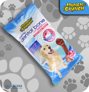 Munch & Crunch Dental Chewy Bone - Beef