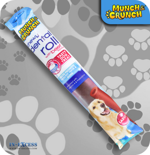 Munch & Crunch Dental Large Chewy Roll - Beef