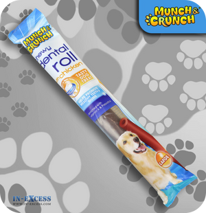 Munch & Crunch Dental Large Chewy Roll - Chicken