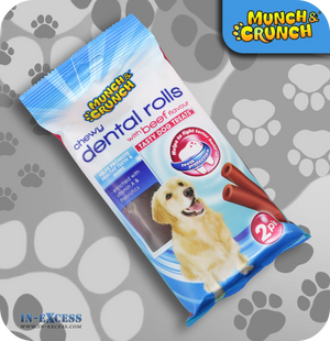 Munch & Crunch Dental Chewy Rolls Beef - Pack of 2