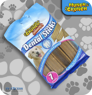 Munch & Crunch Snacks Dental Sticks - Pack of 7